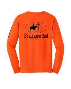 PTCC-0042G Ultra Cotton Long Sleeve T-Safety Orange 50/50 Cotton/Poly Blend